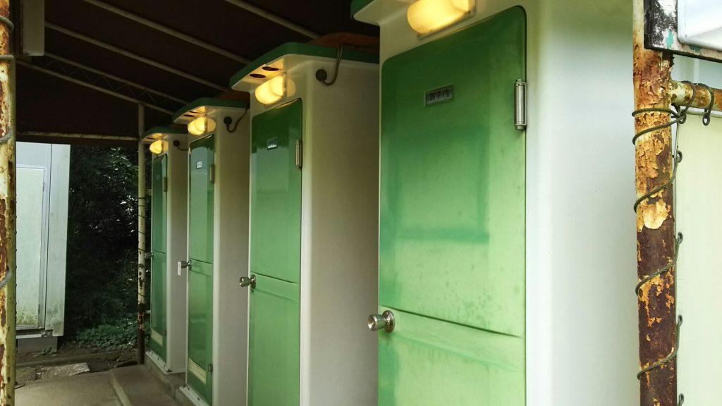 オートキャンプ場のトイレ/清水公園