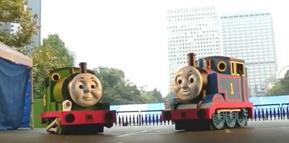 鉄道フェスティバルのトーマスショー